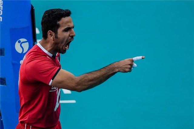 لیگ جهانی - والیبال ایران و آمریکا - علیرضا مباشری