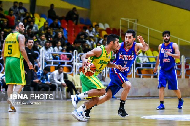 دیدار تیمهای بسکتبال پالایش نفت آبادان و پتروشیمی بندر امام