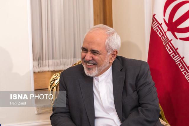 دیدار رییس مجلس سوریه با محمد جواد ظریف