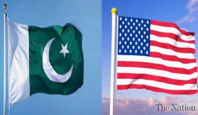 پرچم پاکستان و آمریکا