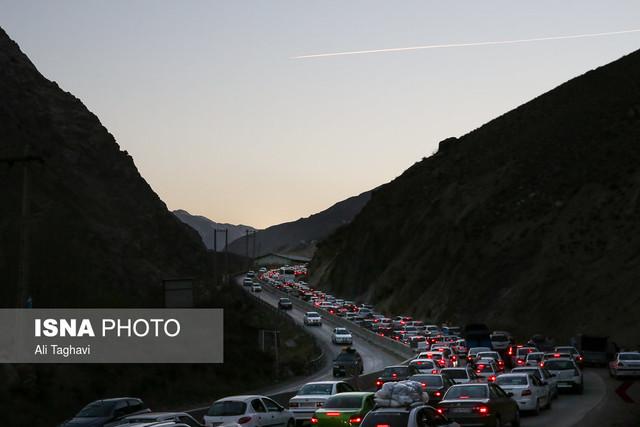 ترافیک نوروزی در محور هراز
