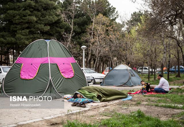 حضور مسافران نوروزی در کمپ غدیر مشهد