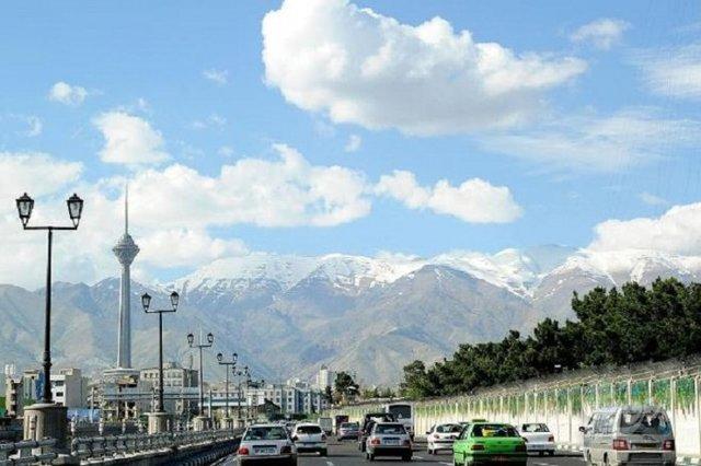 آسمان ابری تهران
