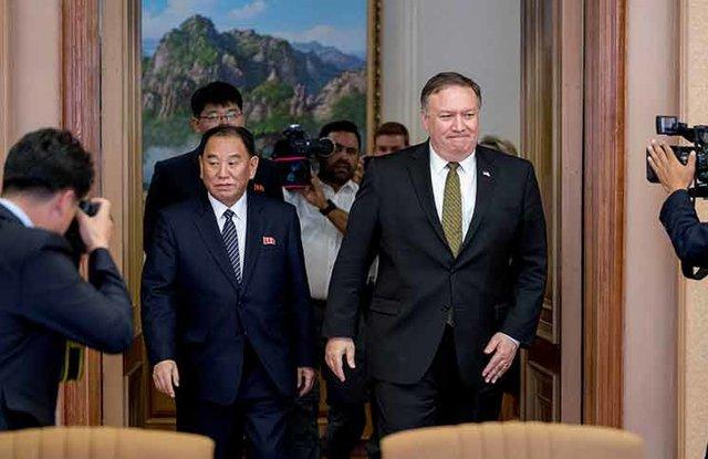 پامپئو و کیم یونگ چول، مسؤول دوم در کرهشمالی