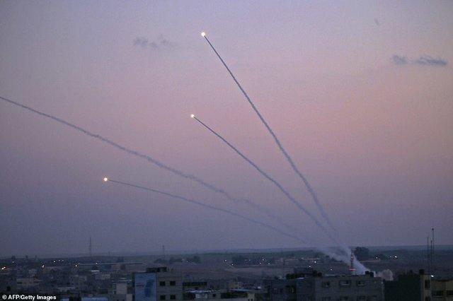 غزه موشک باران