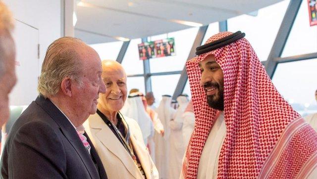 پادشاه سابق اسپانیا ولیعهد عربستان
