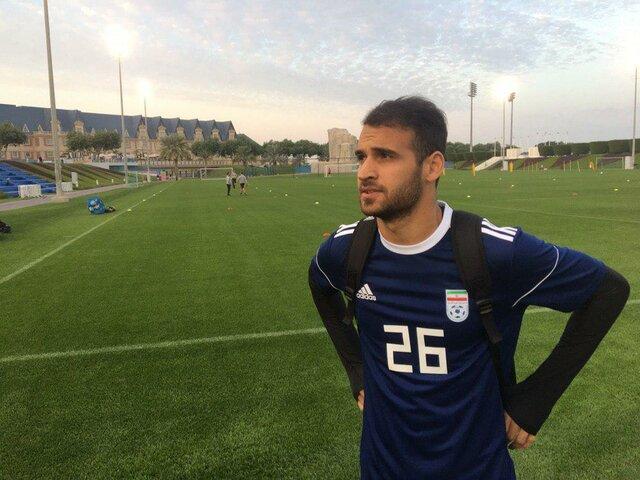 احمد نوراللهی در اردوی تیم ملی در قطر