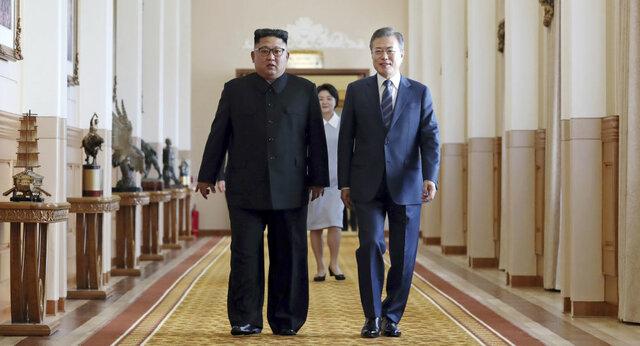 رهبران کره شمالی و کره جنوبی