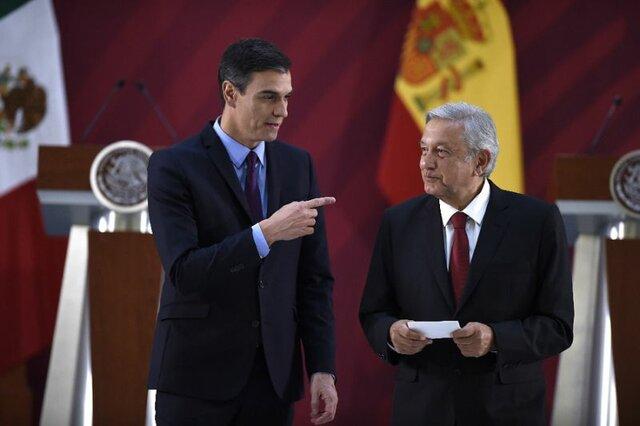 رهبران مکزیک و اسپانیا