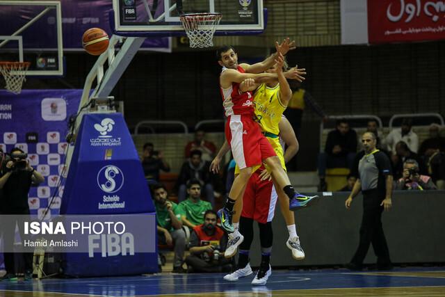 دیدار تیمهای ملی بسکتبال ایران و استرالیا