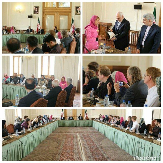 دیدار فعالان ضد جنگ با ظریف