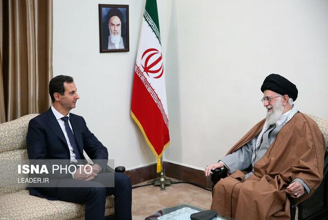 دیدار رئیسجمهوری سوریه با مقام معظم رهبری