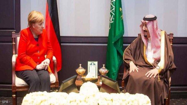 پادشاه عربستان و مرکل
