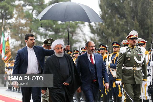 مراسم استقبال رسمی روحانی از نخست وزیر ارمنستان