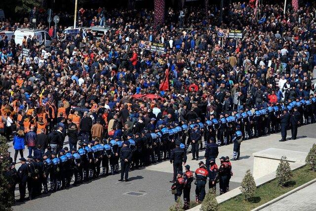 تظاهرات آلبانی