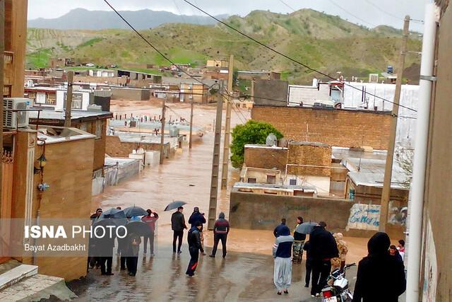 سیلاب در شهر معمولان