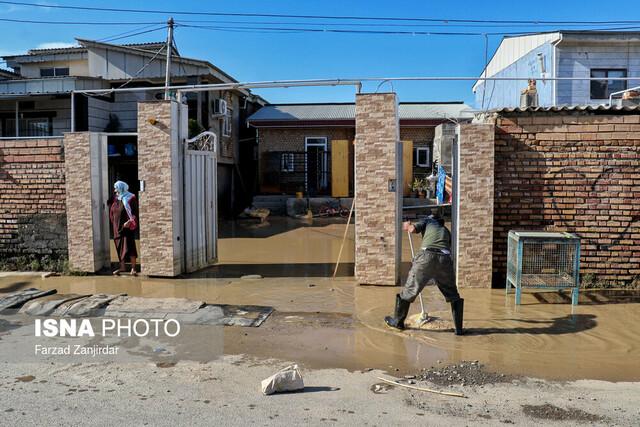 خسارات ناشی از سیل - روستای کل آباد آق قلا