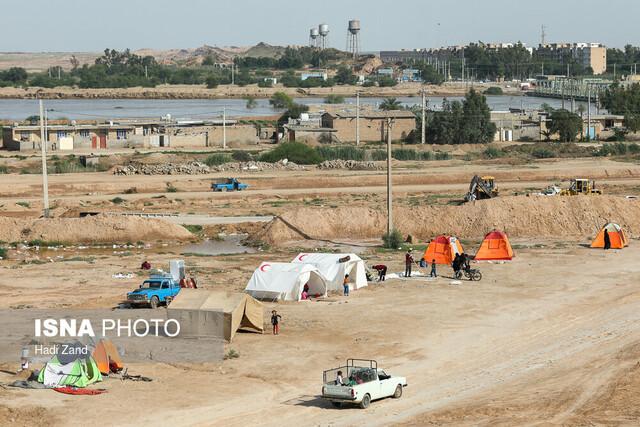 کمپ سیلزدگان روستای «حمیدیه»