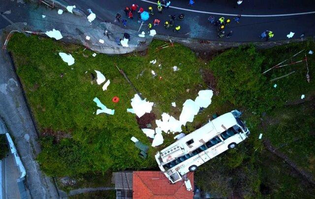 واژگونی اتوبوس در پرتغال
