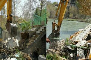 ساخت و سازهای غیرمجاز در بستر زاینده رود