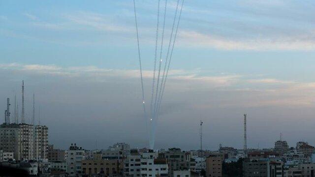 حمله راکتی به غزه