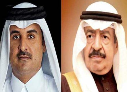 نخست وزیر بحرین و امیر قطر