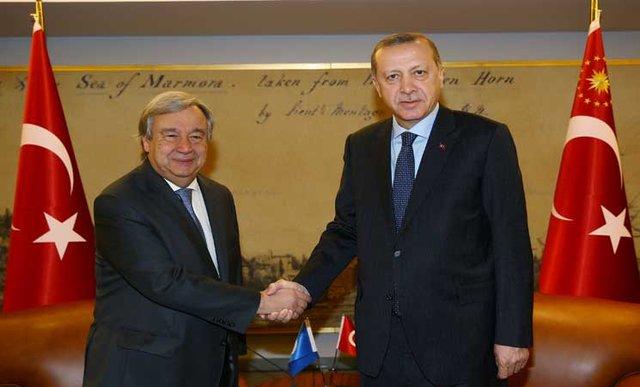 اردوغان و گوترش