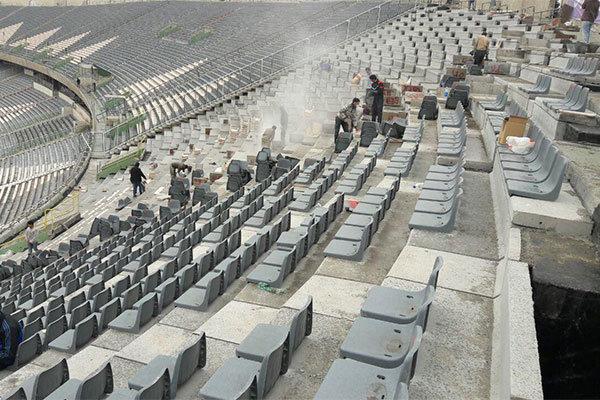 کار بازسازی ورزشگاه آزادی