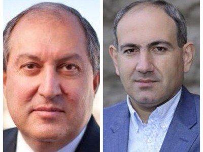 رئیسجمهوری ارمنستان با رهبر جنبش اپوزیسیون