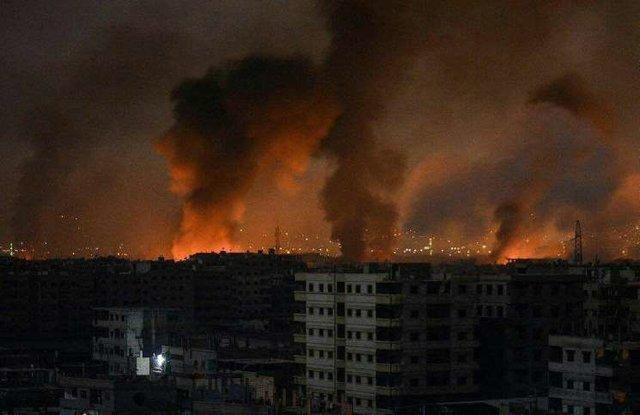 انفجارهای مهیب در حملات به سوریه
