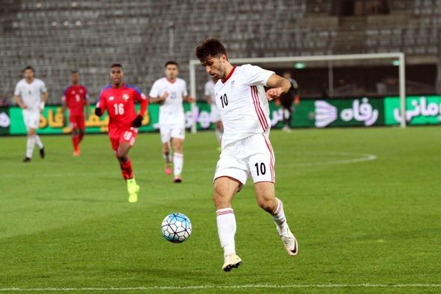 کریم انصاریفرد در بازی تیم ملی فوتبال برابر پاناما