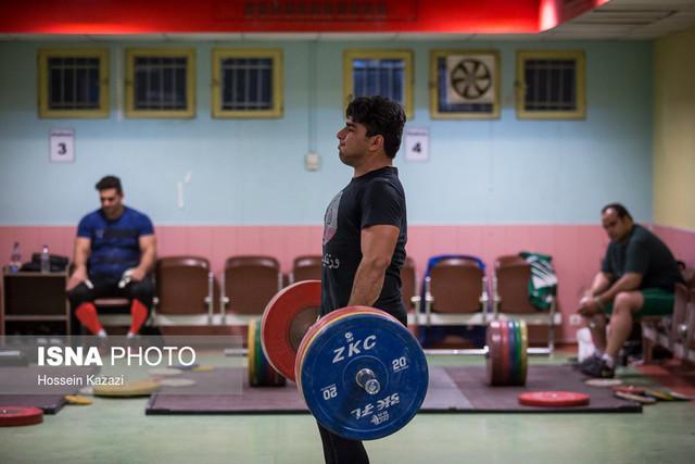 تمرین تیم ملی وزنه برداری