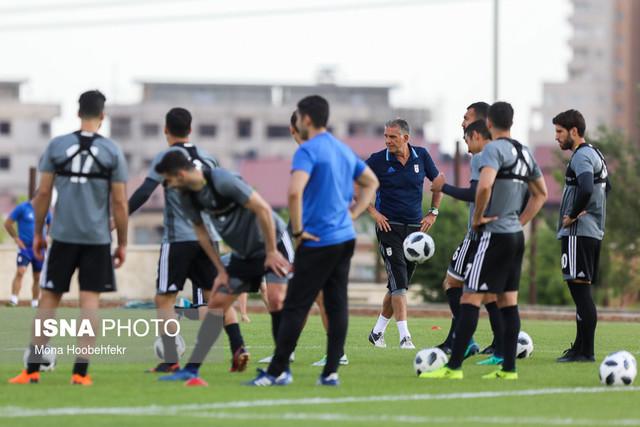 آخرین تمرین تیم ملی فوتبال پیش از بازی با ازبکستان