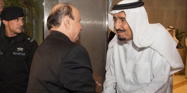 پادشاه عربستان و منصور هادی