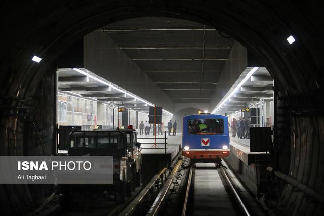بازدید شهردار تهران از خط ۷ متروی تهران