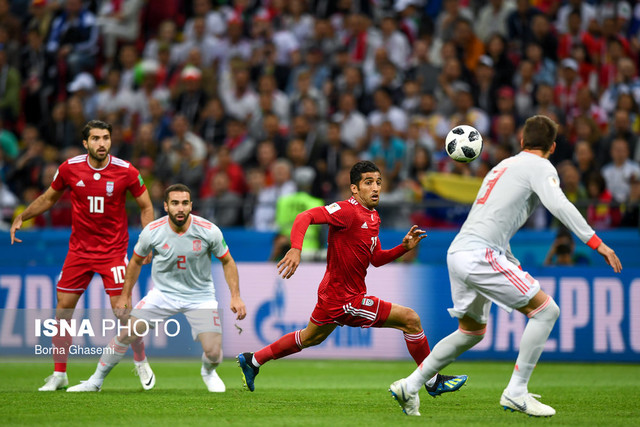 دیدار تیمهای ایران و اسپانیا در دور دوم مرحله گروهی