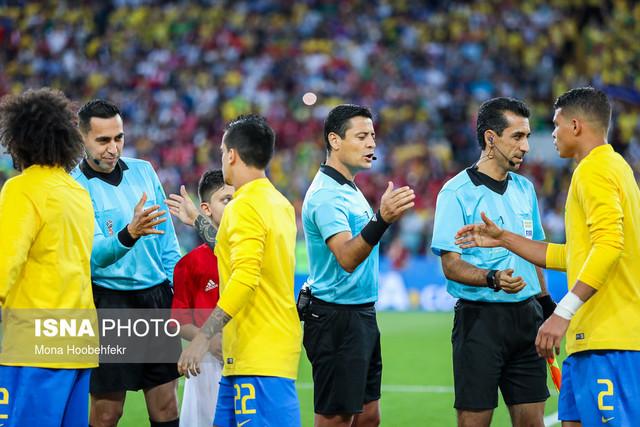 دیدار تیمهای فوتبال برزیل و صربستان