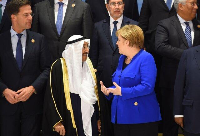 امیر کویت و مرکل