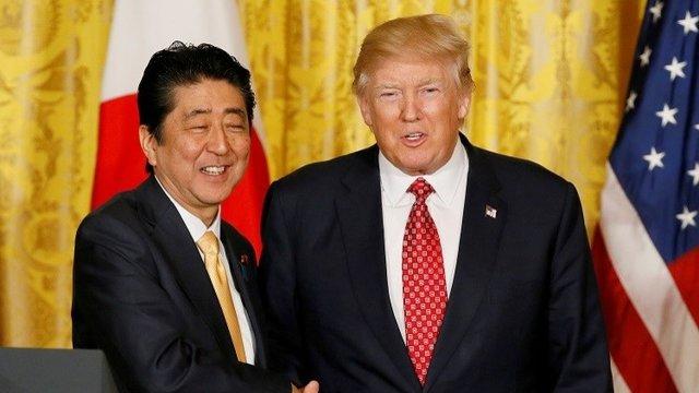 دونالد ترامپ و شینزو آبه