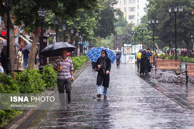 بارش باران در رشت