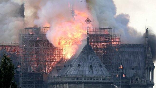 نوتردام در آتش
