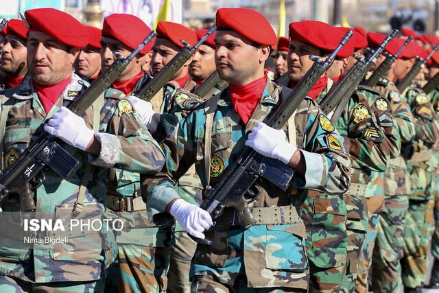 رژه نیروهای مسلح در روز ارتش - زنجان