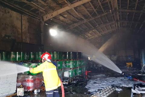 آتش انبار ضایعات