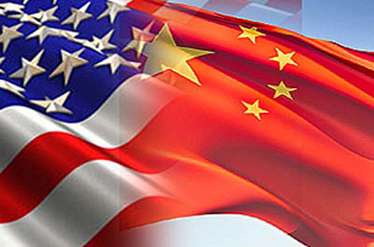 Flag of China and America