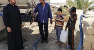 تامین آب شرب روستاهای بخش غیزانیه