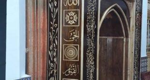 ساخت محراب چوبی مسجد «بازکیاگوراب» در لاهیجان