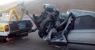 Driving accident in Mahabad