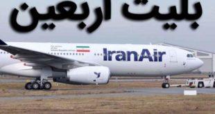 Online sale of Arbaeen flights
