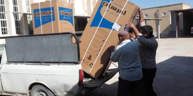 اهدای دستگاه یخچال به مددجویان
