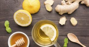 Lemons and honey and ginger